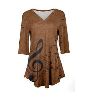Azalea Rust Color Musical Tunic Size 3X